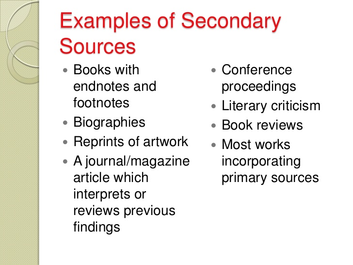 research paper primary vs secondary sources